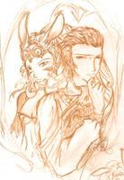 FFXII Sketch by Kaumi