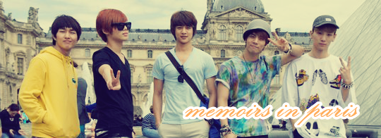 ShiNee Banner-Memoirs in Paris by qeefa