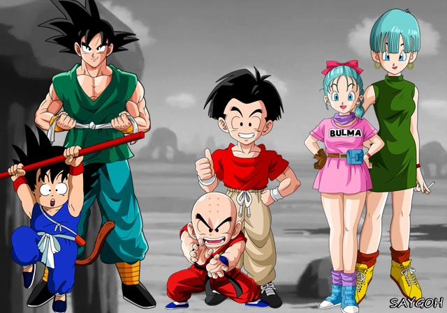 Goku kuririn e bulma saigoh by saigoh on deviantart - Goku e bulma a letto ...