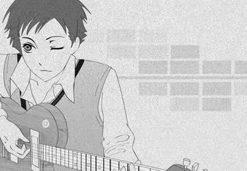 anime with guitar by claresakura09