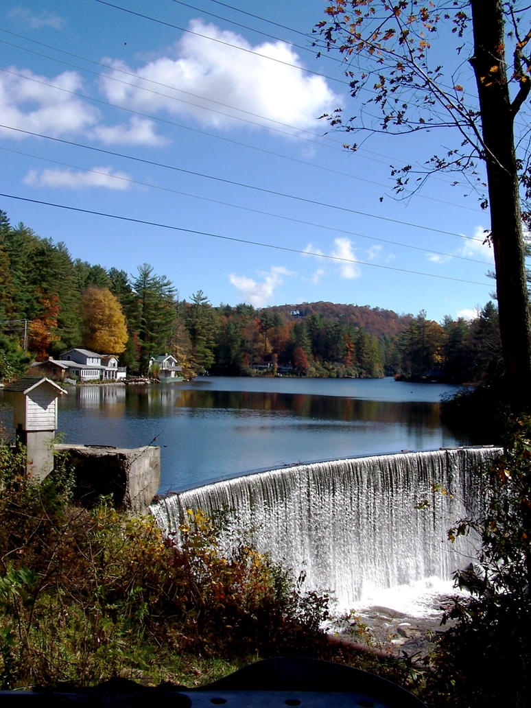 Man Made Waterfall At The Lake By Shockingbluerose On Deviantart