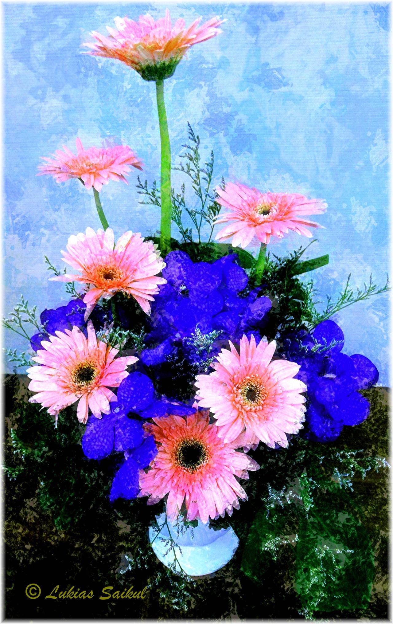 Painted Flowers I by lukias saikul on DeviantArt