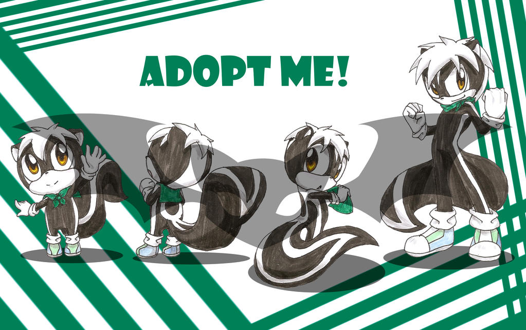 OPEN Adopt: Sonic Style Skunk Boy by Rei-Catlang