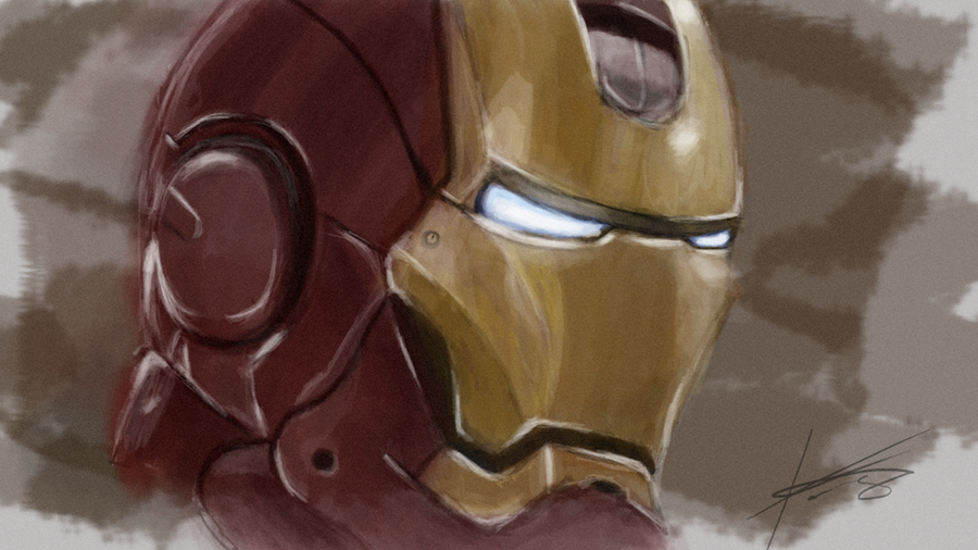 Iron Man Digital Paint by Kalayde