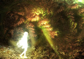 Fractal Multiverse Beings: Guardian of the forest by S0mniaLuc1d0