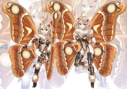 Commission- Moth Girls