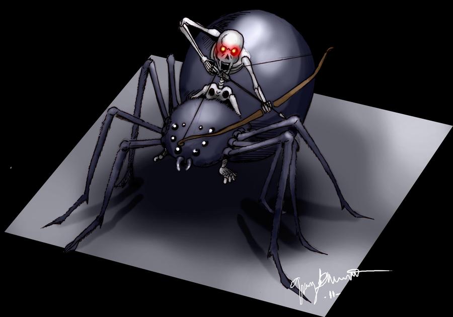 Minecraft Spider Jockey by GrimGary on DeviantArt
