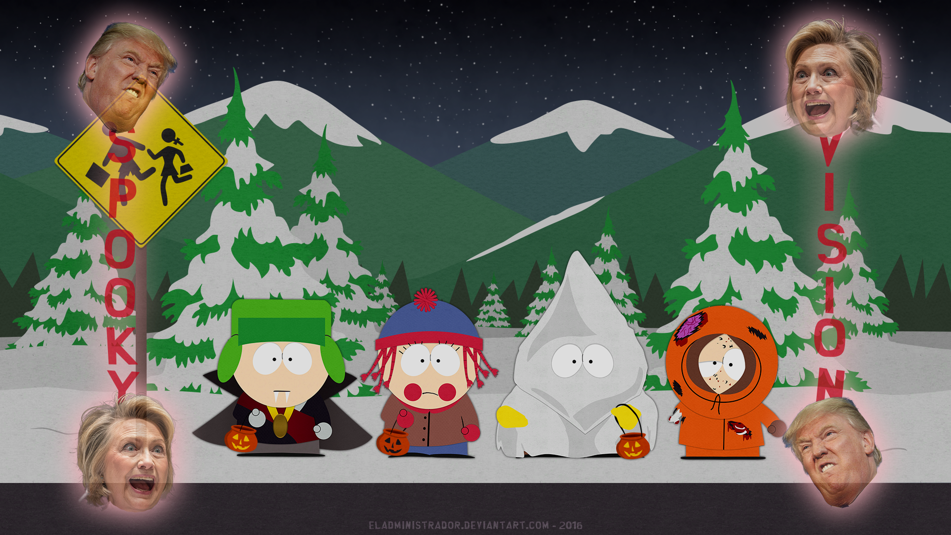 South Park Classic Bus Stop - Halloween Edition by hercamiam on ...