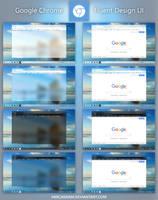 UI Concept: Fluent Design Google Chrome by hercamiam
