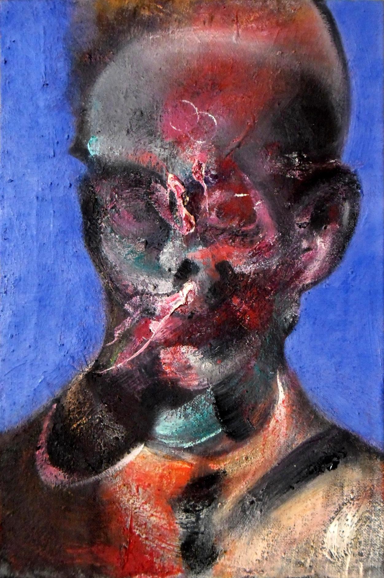 Study for Portrait of E.Schiele on Blue, 2013 by RyckRudd