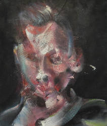 Study For Portrait Of Egon Schiele On Dark by RyckRudd