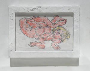 Auction piece - Drawing with frame