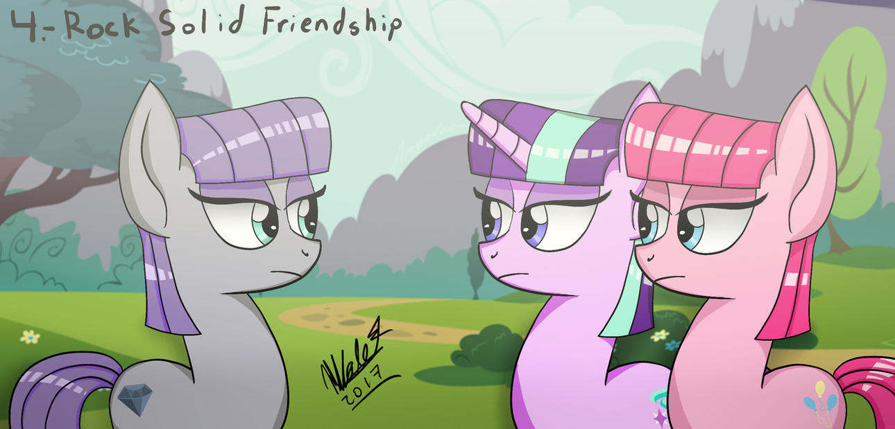 rock solid friendship mlp fim season 7 episode 4 by viejillox64art