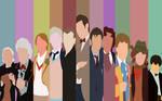 Doctor Who Minimalist 50th Anniversary Wallpaper
