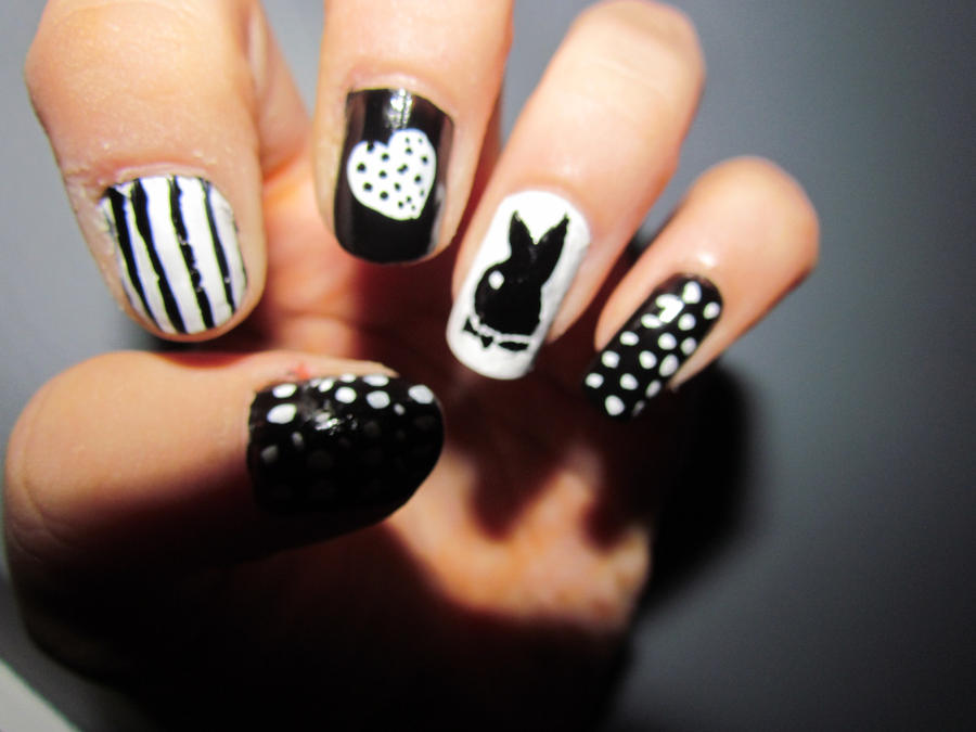 Playboy nails 2 by missfero on deviantart playboy nails 2 by missfero prinsesfo Image collections