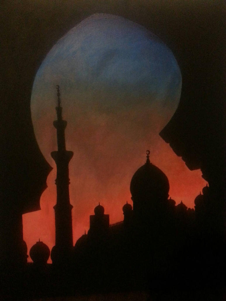 Silhouette of a Masjid by MissFero