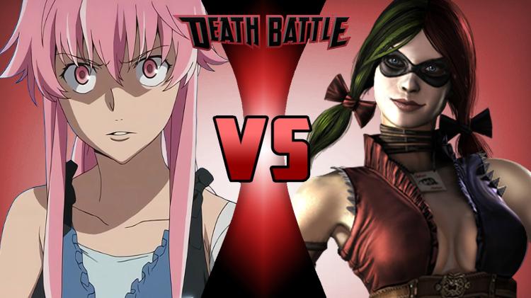 Yuno Gasai VS Harley Quinn by NocturnBros