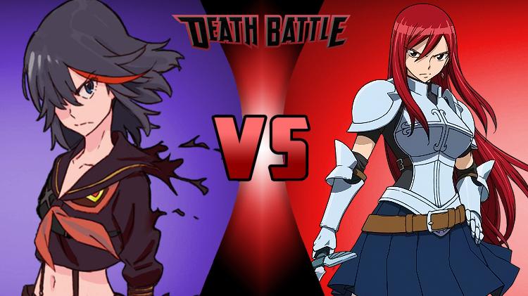 Ryuko VS Erza by NocturnBros