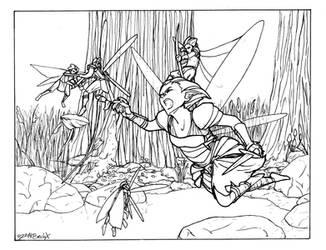 Fairy Fight by die-BeckX