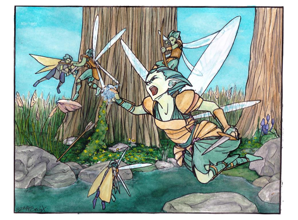 Fairy Fight Coloured by die-BeckX on DeviantArt