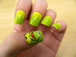 Kermit Nails by WaterLily-Gems