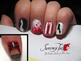 Sweeney Todd Nails - Closeup by WaterLily-Gems