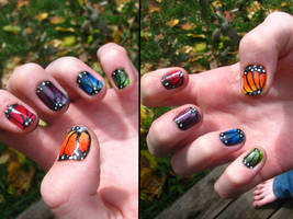 Multicoloured Butterflies by WaterLily-Gems