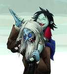 Simon and Marcy Laughing ~ coloured