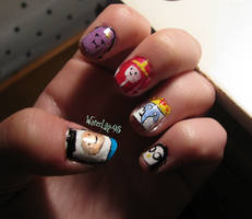 Week 23 Adventure Time Nails 1 by WaterLily-Gems
