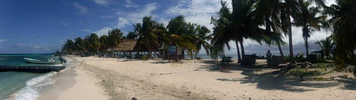 Laughing Bird Caye beach by WaterLily-Gems