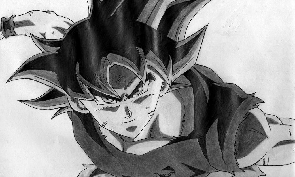 Amarok03 maxime deviantart - Goku ultra instinct sketch ...
