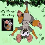 Squirrel Monkey Fur by Hallu-cinate