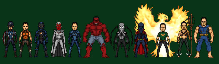 Me as Marvel Superheroes by Naps137