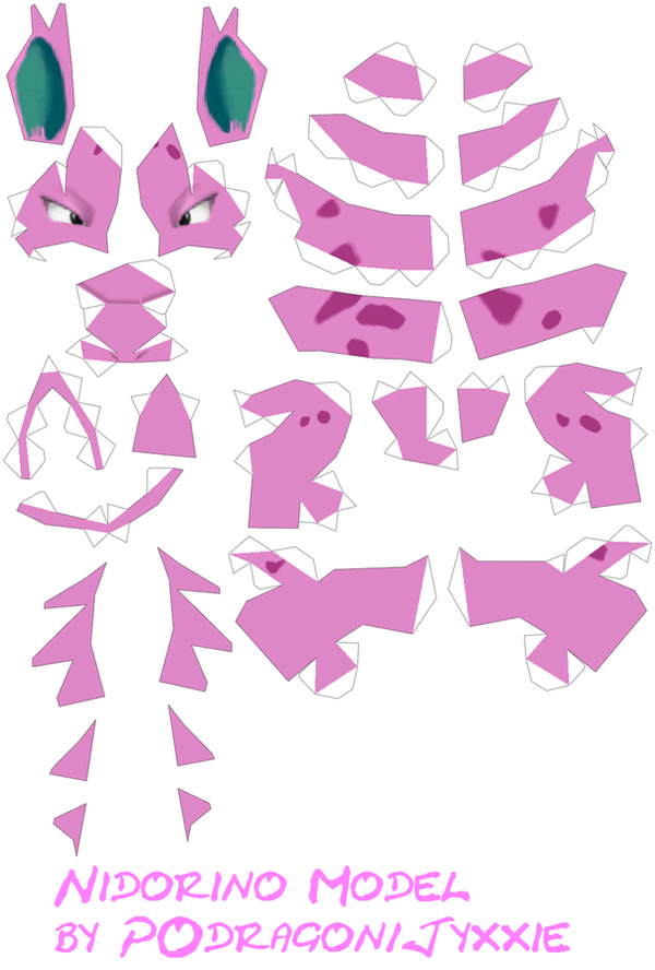 Papercraft - Pokemon Nidorino by Jyxxie