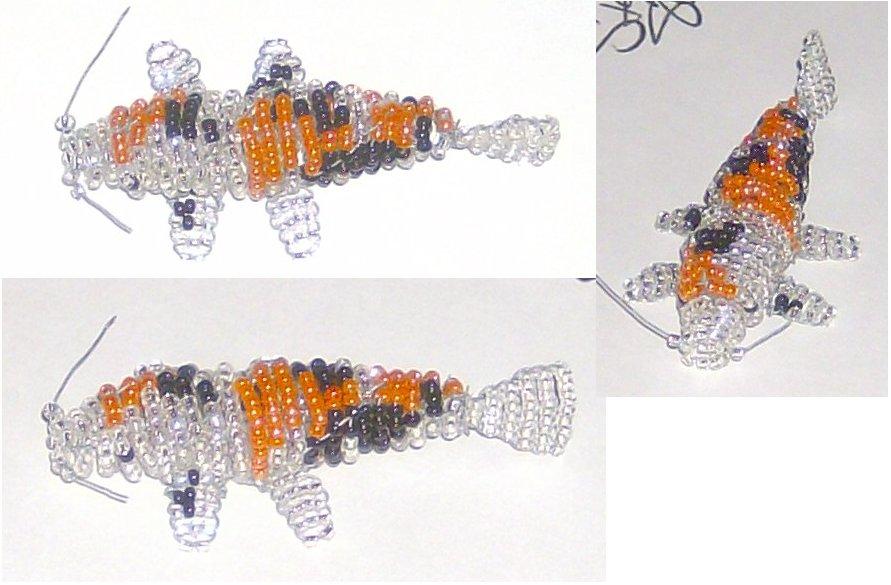3d beaded koi fish by jyxxie on deviantart for Koi fish beads