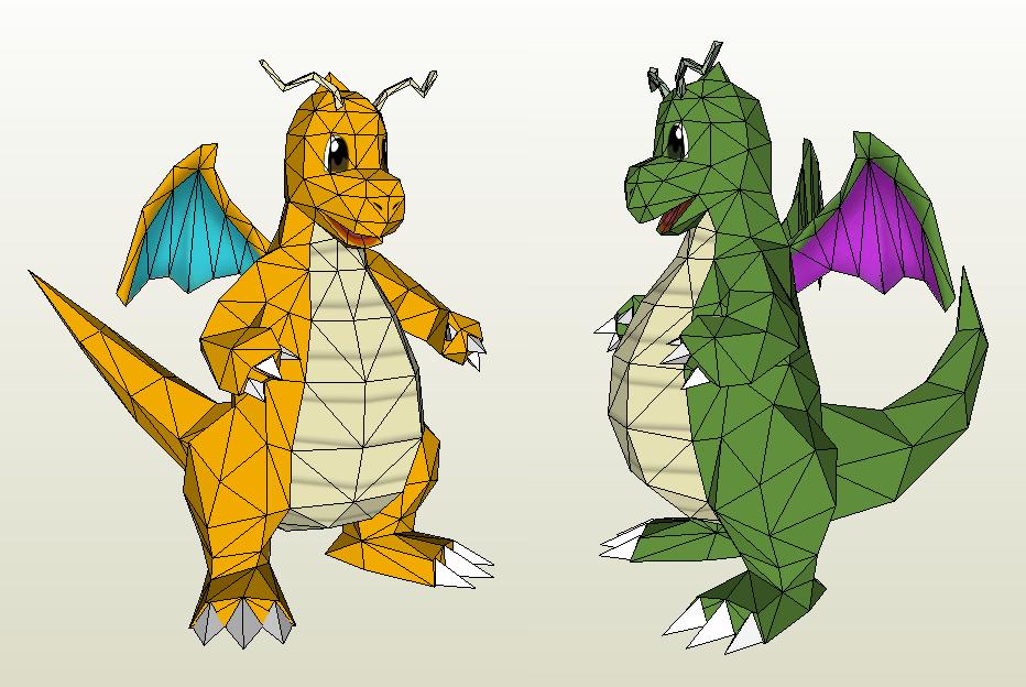 Papercraft - Dragonite by Jyxxie
