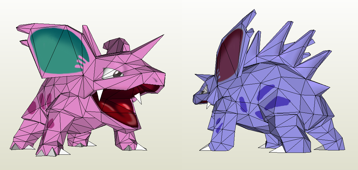 Papercraft - New Nidorino by Jyxxie