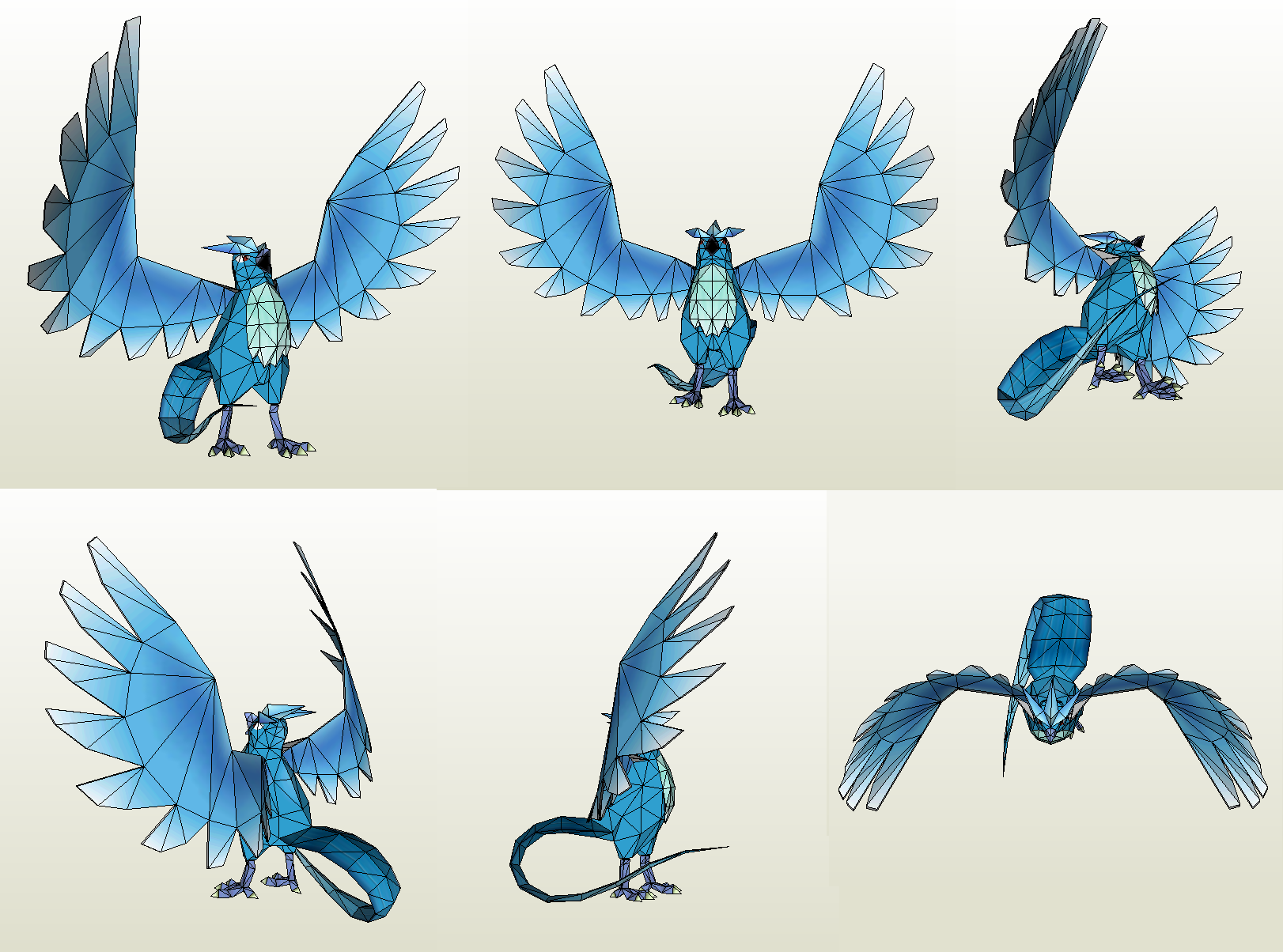 Papercraft - Articuno by Jyxxie