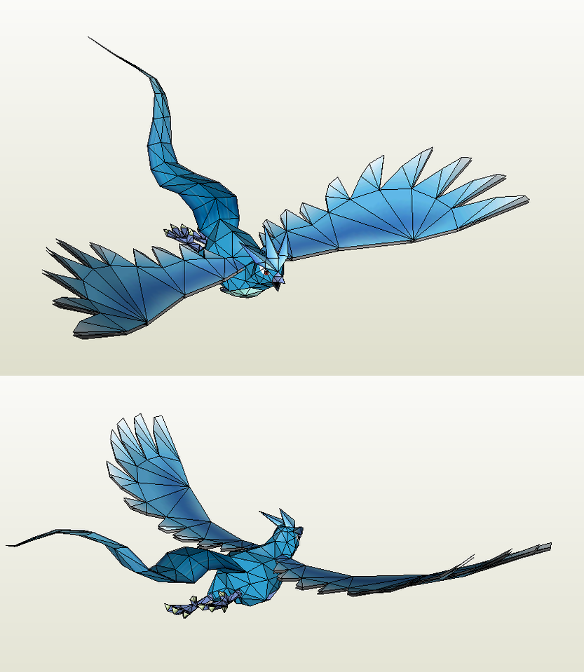 Papercraft - Articuno Swoop by Jyxxie