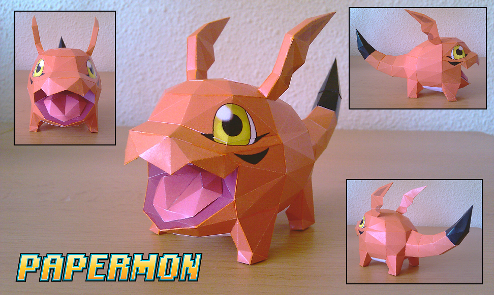 Gigimon Papercraft by Jyxxie