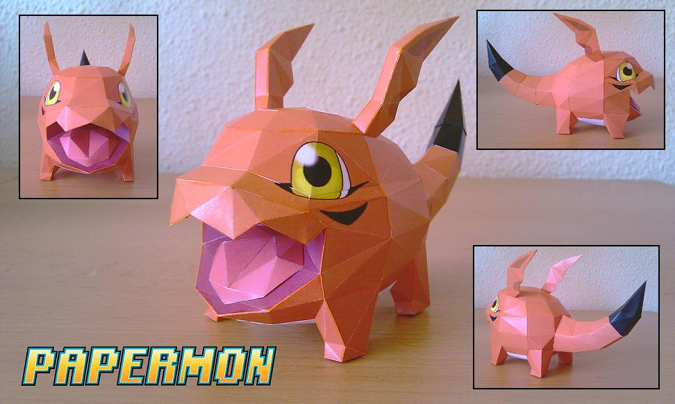 Gigimon Papercraft by Jyxxie