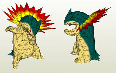 Papercraft - Typhlosion by Jyxxie