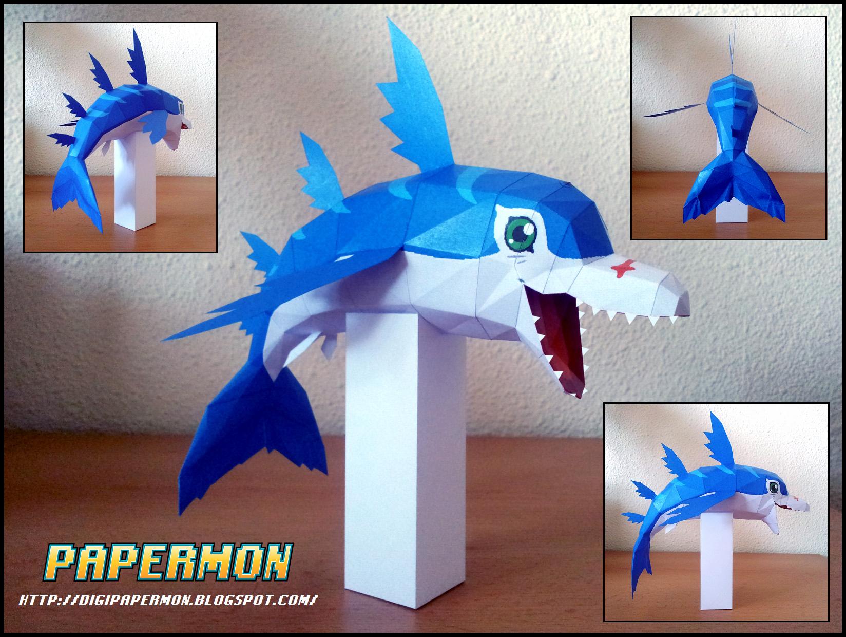 Papercraft - Dolphmon by Jyxxie