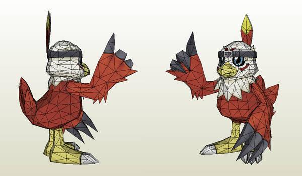 Papercraft - Hawkmon
