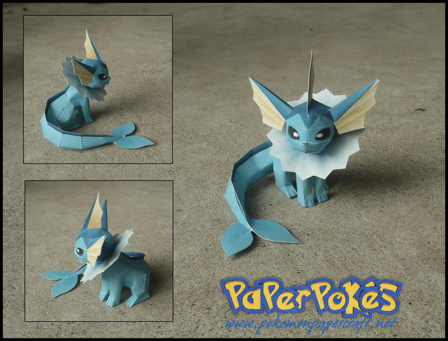 Mini Vaporeon Papercraft by Jyxxie