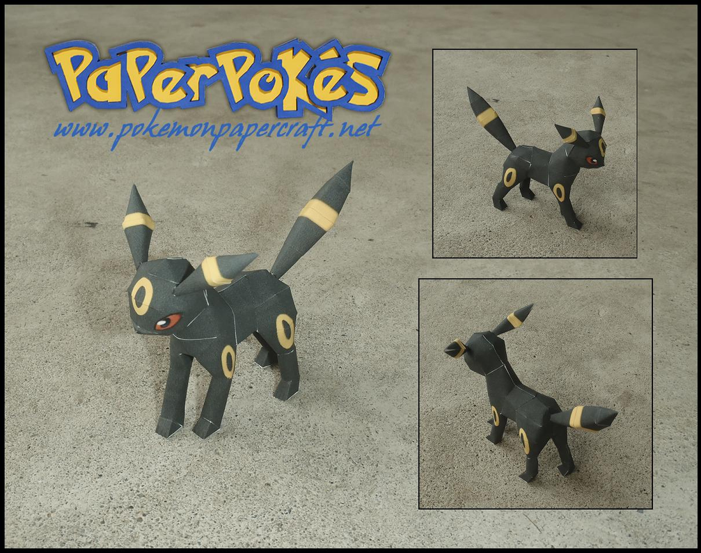 Mini Umbreon Papercraft by Jyxxie
