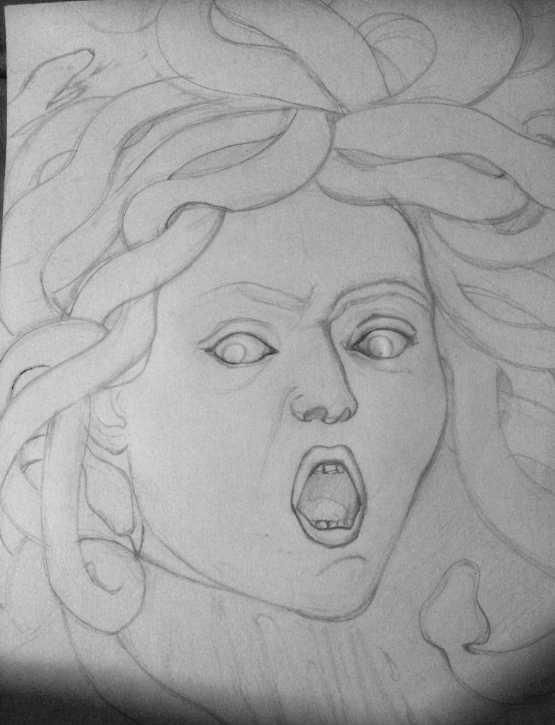 Medusa (lineart) by goodsnake