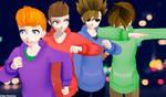 MMD-EddsWorld(Edd,Matt,Tom and Tord)