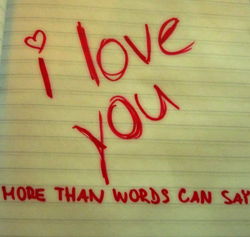word i love you