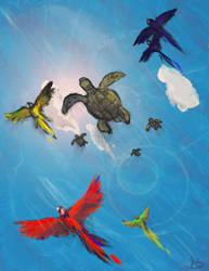 Flying Lesson by jaz-lyn